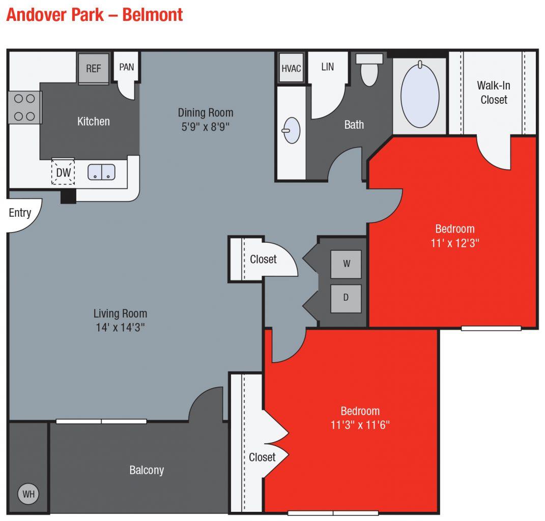 Apartments For Rent TGM Andover Park - Belmont