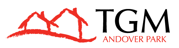 This image shows the official TGM Andover Park Logo