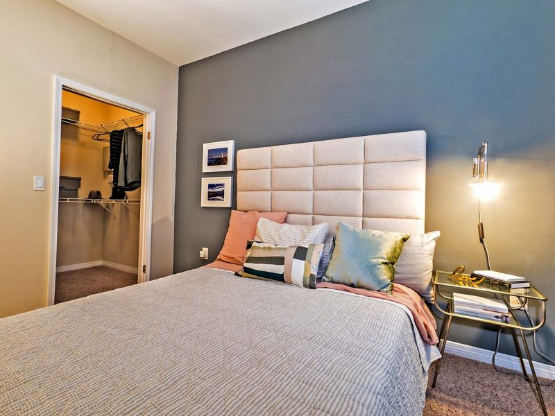 This image is a Premium Apartment Feature that displays a spacious bedroom with stunning design.