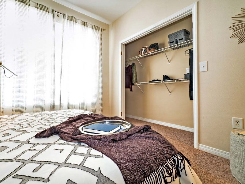 TGM Andover Park Apartments Master Bedroom and walk-in closets